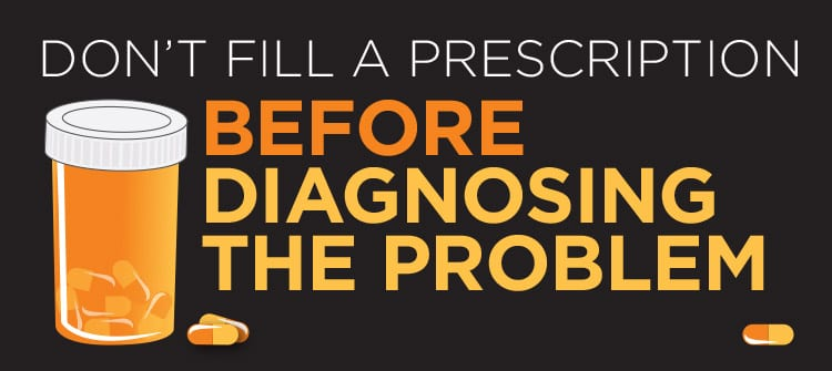 Prescription Without Diagnosis is Malpractice